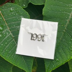 "NEW!! 💚 Birth Year Necklace ""1991"""